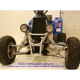 Yamaha Banshee 350 ATV Widening and Lowering Kit